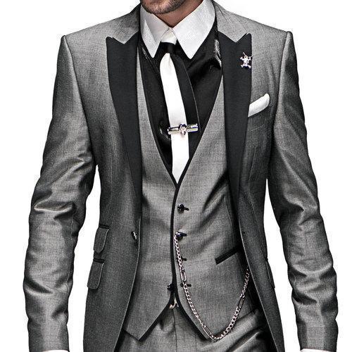 5 pcs daily basis dinner suits for groomsmen peak lapel formal