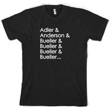 Adler & Anderson Mens T-Shirt -Movie -10 ColoursPrint T Shirt Short Sleeve Hot Black Style