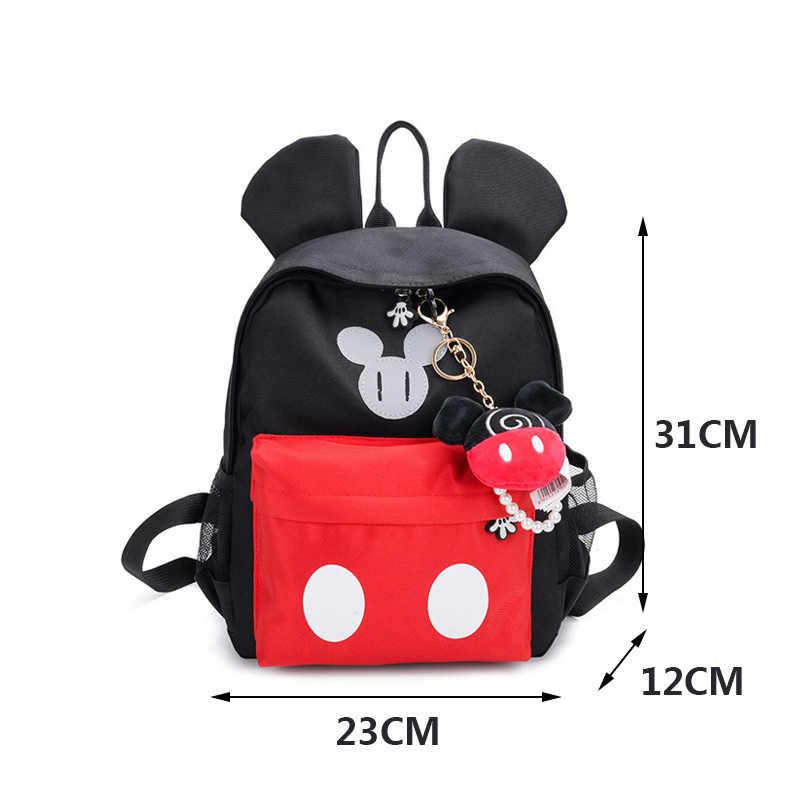 ... 2019 Disney New Children Girls School Bag Mickey Mouse Backpack Cute  Kids Boy Girl Backpacks Cartoon ... daed779add292