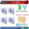 9ledsx18w led wedding battery power wireless DMX par light (Freeshipping 4XLOT)