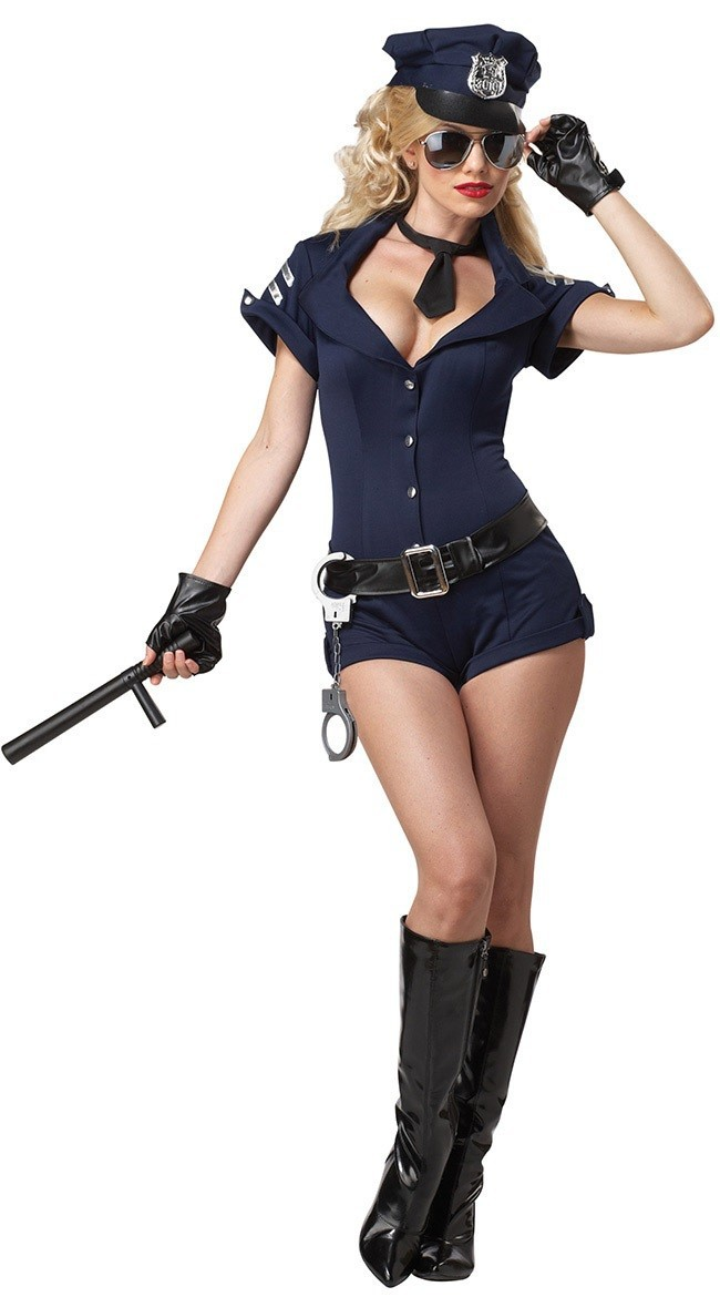 Free Shipping Sexy Police Women Costumes Top Selling Lady Halloween Costumes