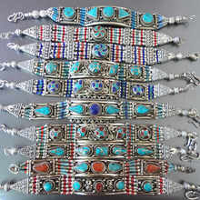 Last Clearance Sale-Indian Bracelets Copper Inlay Colorful Stone Clasp Bracelets Only$9.9 Multi Designs