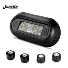 hot deal buy jansite car tpms tire pressure monitor system wireless digital lcd display 4 external sensors auto security tire alarm systems