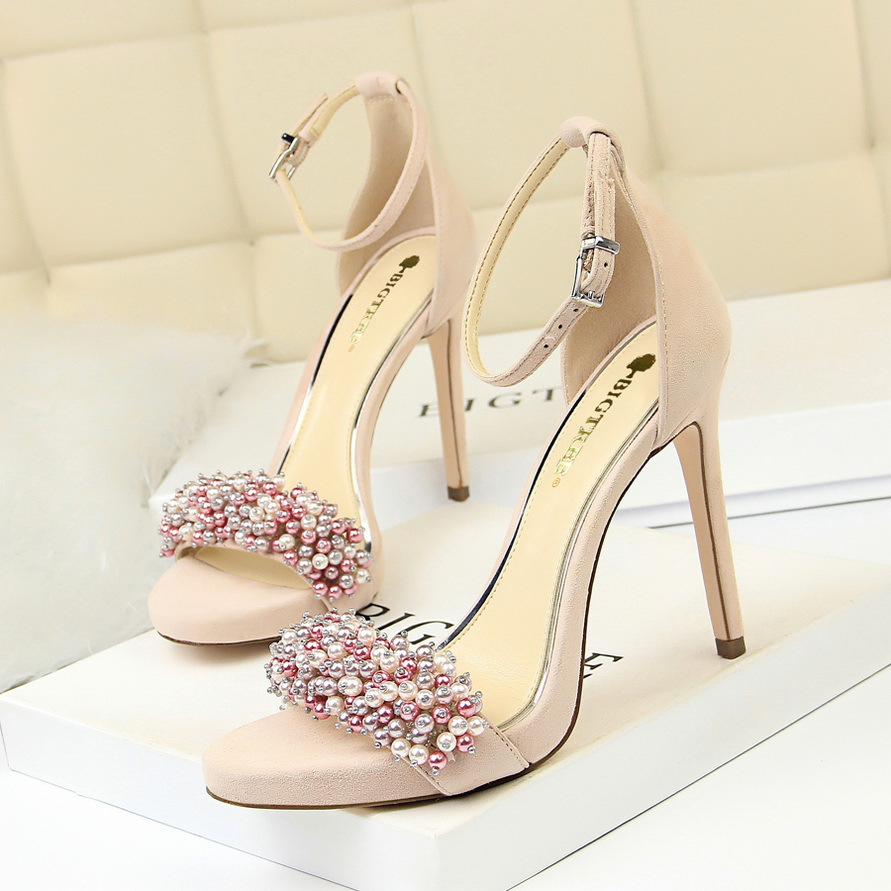 sexy banqueting womens shoes with thin heel and super high heel ...