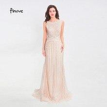 Finove длинное вечернее платье с бисером,, сексуальное, иллюзионное, круглый вырез, прозрачное сзади, Русалка, длина до пола, вечерние платья, вечерние платья