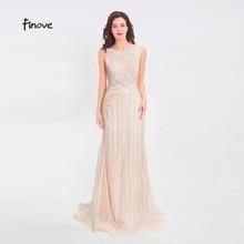 Finove ואגלי ארוך שמלת ערב 2020 סקסי אשליה O צוואר לראות דרך חזרה בת ים באורך רצפת המפלגה שמלת פורמליות שמלת שמלות