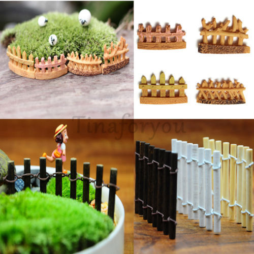 recin llegado de arte popular jardn valla de jardn mini micro dollhouse miniaturas de madera