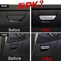 2 PCS DIY Car styling New ABS Chrome Glove box Handle Decorative Sequin Cover Case stickers For Ford Focus 2015 part accessories