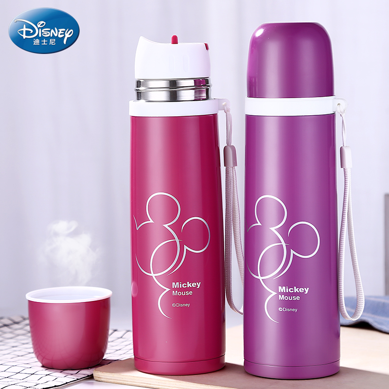 Disney 450ml Thermos Feeding Bottle Vacuum Flask Insulation Feeding Cup My Bottles Leak-poof Student Thermos Cup Car Kettle newborn baby animal white tiger stuffed plush kawaii pillow plush baby soft toy kids toys for children s room decoration doll