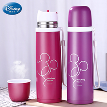 Disney 450ml Thermos Feeding Bottle Vacuum Flask Insulation Feeding Cup My Bottles Leak-poof Student Thermos Cup Car Kettle