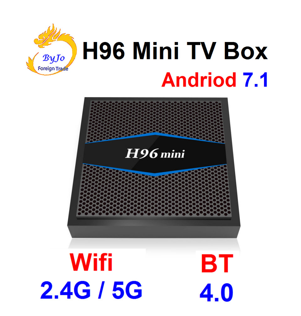 H96 Mini 4K box 2.4G 5GHz Wifi Bluetooth set Top box Smart tv box android 7.1 Android tv box Amlogic 2G 16G телеприставка ubox r89 tv box 89 android rk3288 2g 16g t764 gpu bluetooth 4 0 xbmc 2 4 g 5 g wifi h 265 r89 android tv box