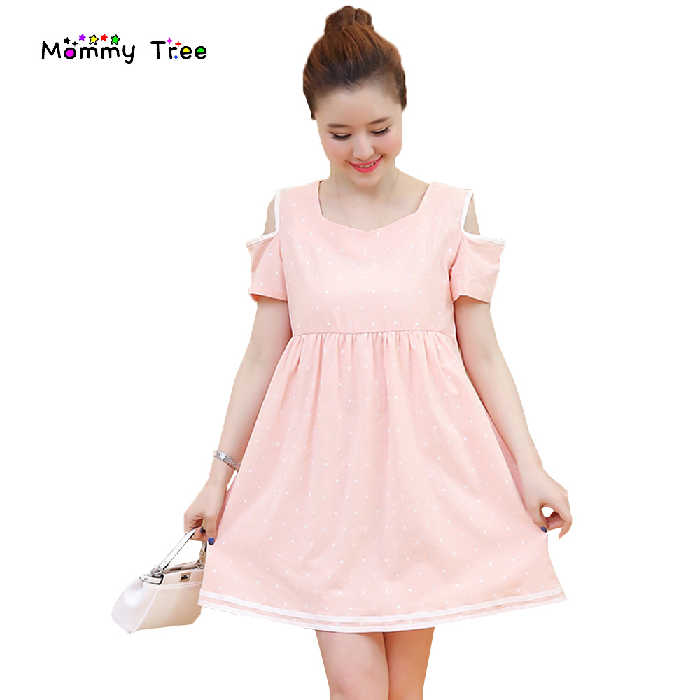 Popular pregnancy dresses pink buy cheap pregnancy dresses pink 2017 summer short sleeve polka dot maternity dress pink white cute pregnancy clothes for pregnant women ombrellifo Gallery