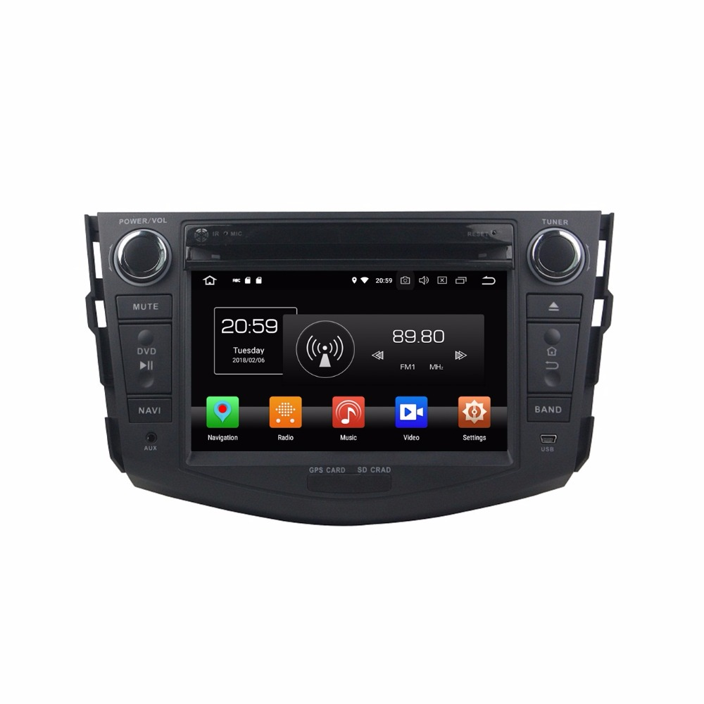 Top Octa Core 7 inch 8 core Android 9.0 Car Radio DVD player GPS for for Toyota RAV4 2006-2012  gps 4G RAM 64G ROM stereo auto audio 1
