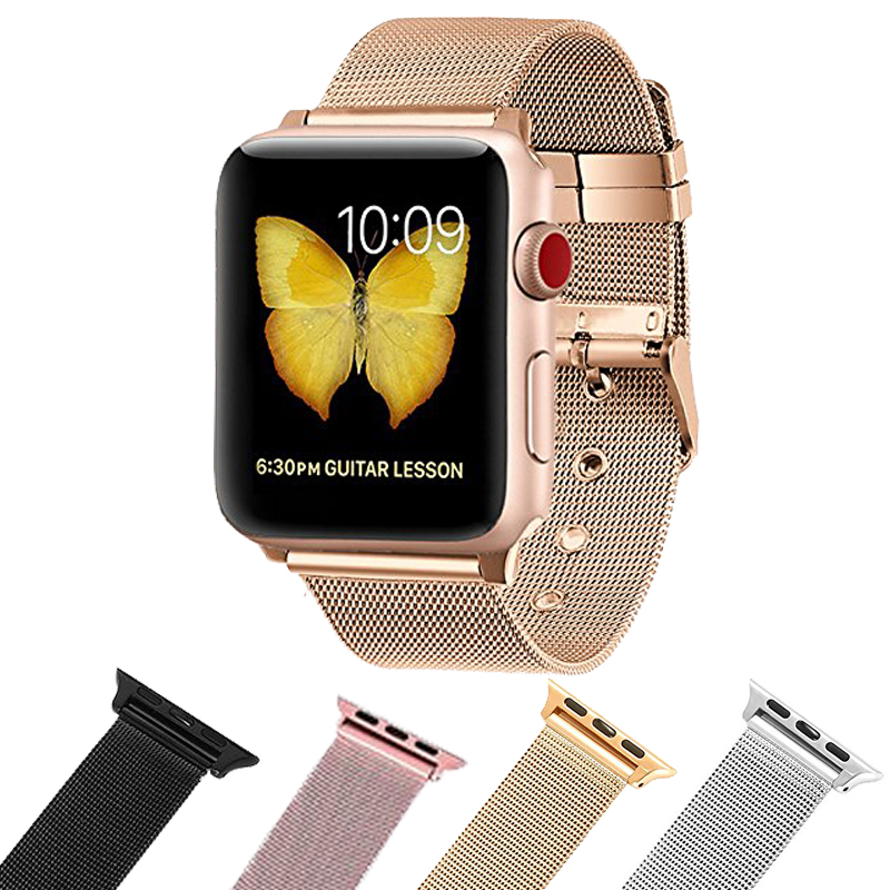 Apple Watch Accessories iWatch Band Classic Buckle Stainless Steel Sport Replacement Band for Apple Watch Series 3 rock apple watch iwatch sport
