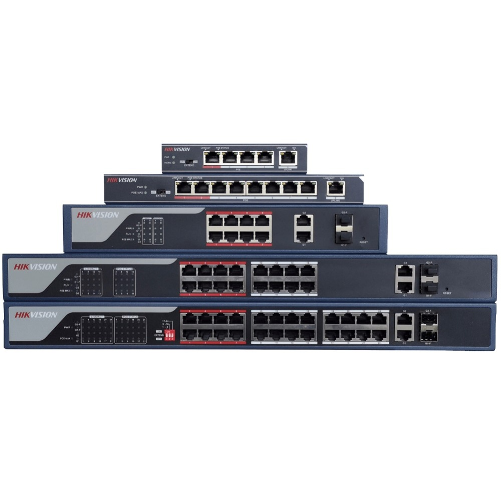 цена Hikvision DS-3E0105P-E/M DS-3E0109P-E/M DS-3E0318P-E/M DS-3E0326P-E/M Economic PoE LAN Switch, Network Switch