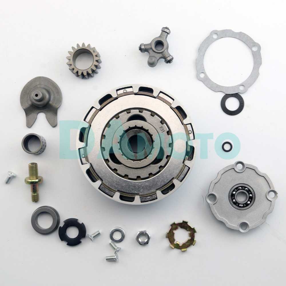 US $39 58 7% OFF|ATV CLUTCH Complete ASSEMBLY QUAD 110 AUTO CLUTCH SEMI  AUTOMATIC 17T 17 TEETH ONLY 110cc 125cc CHINESE ATV XR Z50 CT70 CRF50  TRX-in