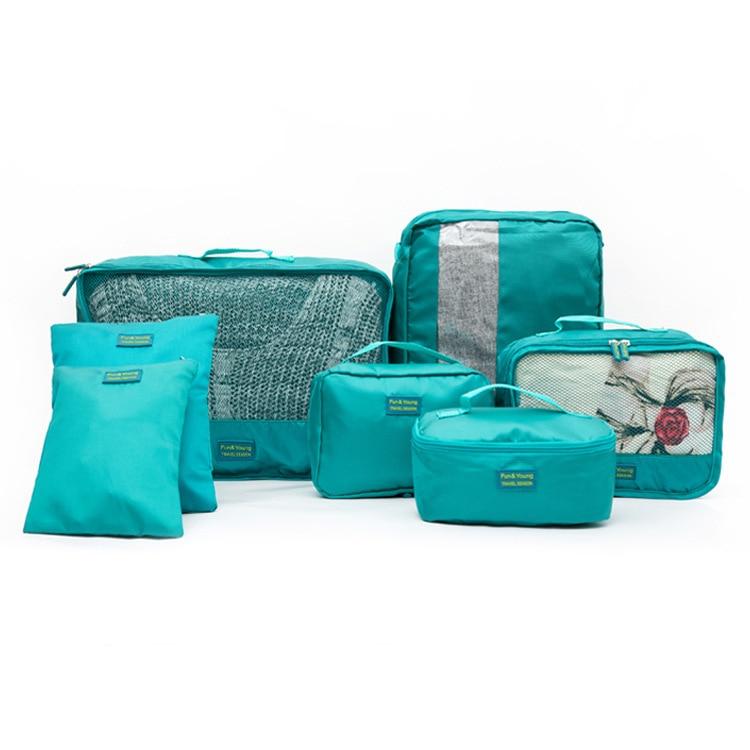 de înaltă calitate 7pc / set organizator de bagaje portabile de - Organizarea și depozitarea în casă