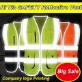 Nova chegada colete refletivo de segurança colete de segurança oi vis colete workwear clothing impressão do logotipo reflexivo