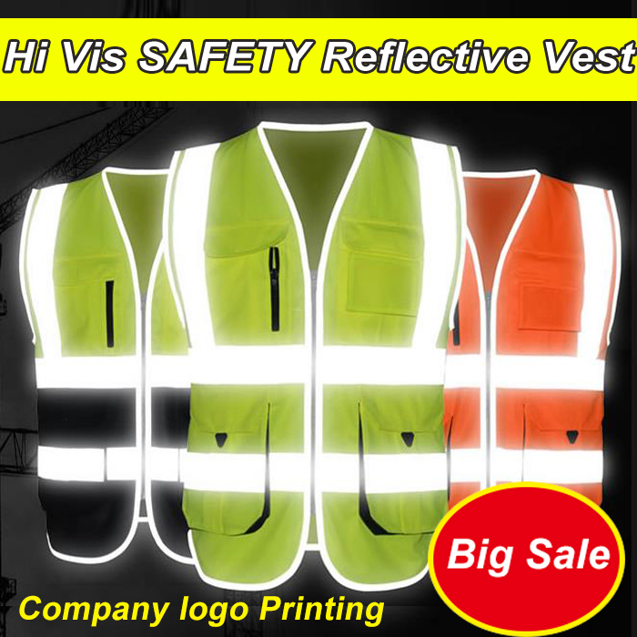 SFvest New Arrival Hi vis vest workwear clothing safety reflective vest safety vest reflective logo printing jiade two tone hi vis safety vest reflective