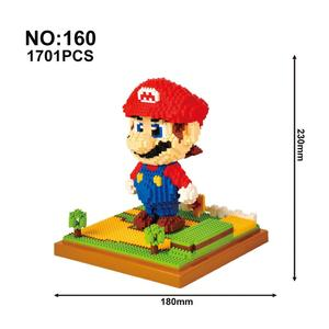 Image 5 - Model Building Blocks Cartoon Anime Figures Assembled Mini Brick Educational Toys For Children