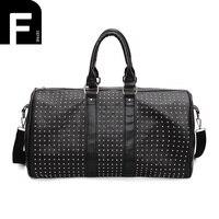 European And American Style Travel Bag PU Leather Women Men Large Boarding Bag Weekend Luggage Bag