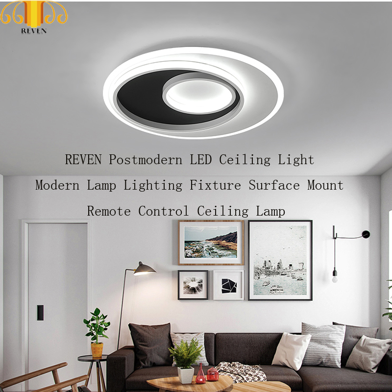 REVEN Postmodern LED Ceiling Light Modern Lamp Lighting Fixture Surface Mount Remote Control Ceiling LampREVEN Postmodern LED Ceiling Light Modern Lamp Lighting Fixture Surface Mount Remote Control Ceiling Lamp