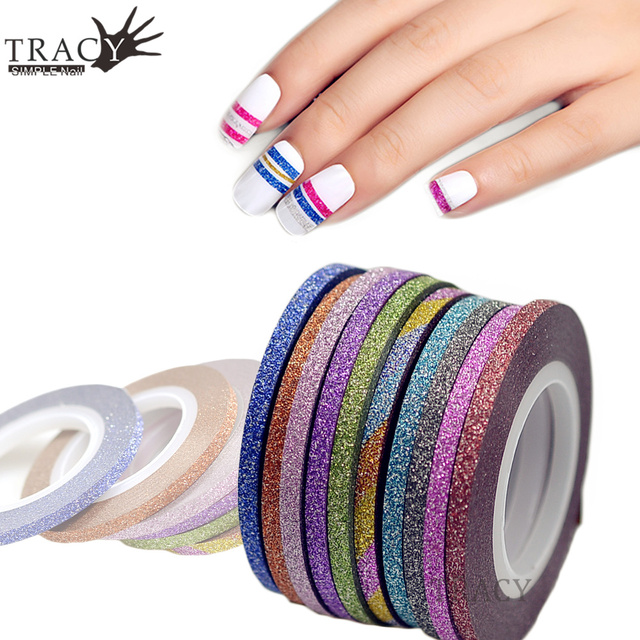 1 Piece 3mm Nail Striping Tape Line For Nails Decorations Pink ...