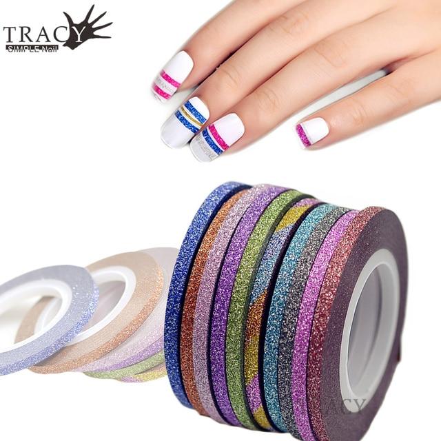 1 Stuk 3mm Nail Striping Tape Line Voor Nagels Decoraties Roze