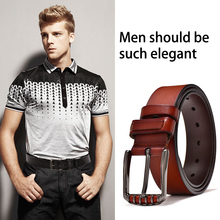 Classic Luxury Pin Buckle Leather Belt For Men