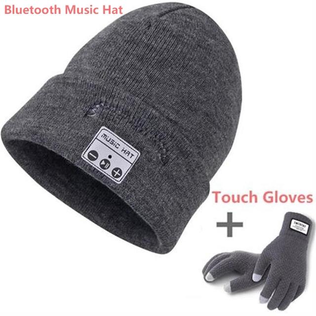 Bluetooth Beanie Music Hat with Speaker Wileless Bluetooth Headphone Headset Earphone Smart Hat+Smart phoneTouch Screen Gloves