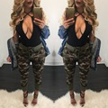 Y1202-45C 2016 Лето камуфляж женские брюки Камуфляж брюки-Карго женщины Военная мода Случайные Свободные шаровары