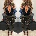 Y1202-45C 2016 camuflagem Verão calças das mulheres calças De Camuflagem Carga mulheres Militar moda Casual Solta Harem Pants