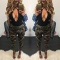 Y1202-45C 2016 pantalones de camuflaje Verano mujeres Camuflaje pantalones Cargo Militar mujeres moda Casual pantalones Harem Flojos