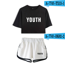 цена Shawn Mendes Crop Top Set Cropped Tumblr Sexy Tops And Pants Printed Crop Top Women Plus Size Two Piece Sets Harajuku Women Set