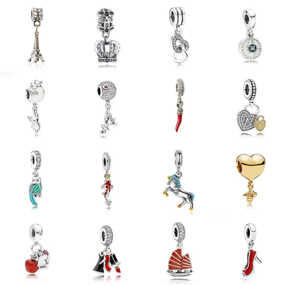 Parrot/Mouse/Horse Pendant DIY Fashion Jewelry Charms Beads Fit Pandoraa Bracelet & Necklaces Beads Jewelry Making Women Gifts