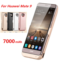 7000mAh Ultra Thin Portable Backup Power Bank Rechargeable Cases External Battery Charger Case For Huawei Mate 9 Powerbank