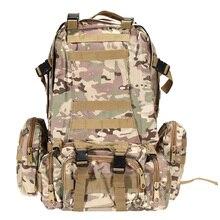 55L Große Kapazität Außen Militärische Taktische Rucksack Rucksäcke Sporttasche Camping Wandern Jagd Taschen Packs KOSTENLOSER VERSAND
