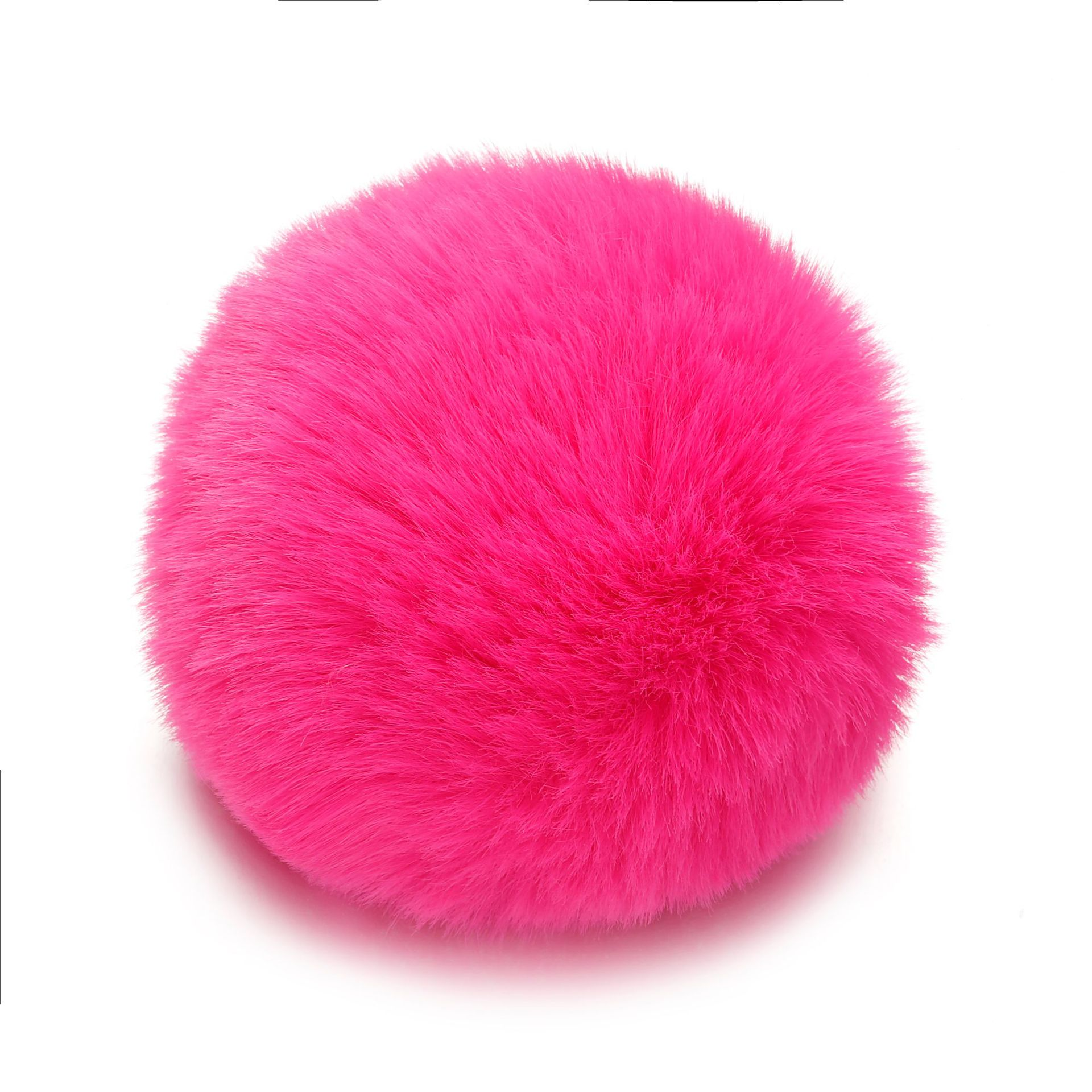 8CM Diy Fluffy Faux Rex Rabbit Fur Ball Pom Pom Keychain Women Bag Charms Man Trinket Keyring Hare Toy Dress Wedding Party Gift in Key Chains from Jewelry Accessories