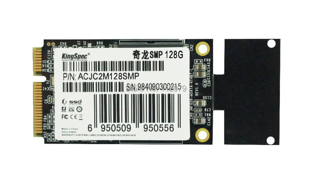 SATA Mini-PCIe SSD KingSpec 128 ГБ (ACJC2M128SMP) твердотельные накопители, Пригодный Для ASUS Eee PC S101 900A 900, бесплатная Доставка