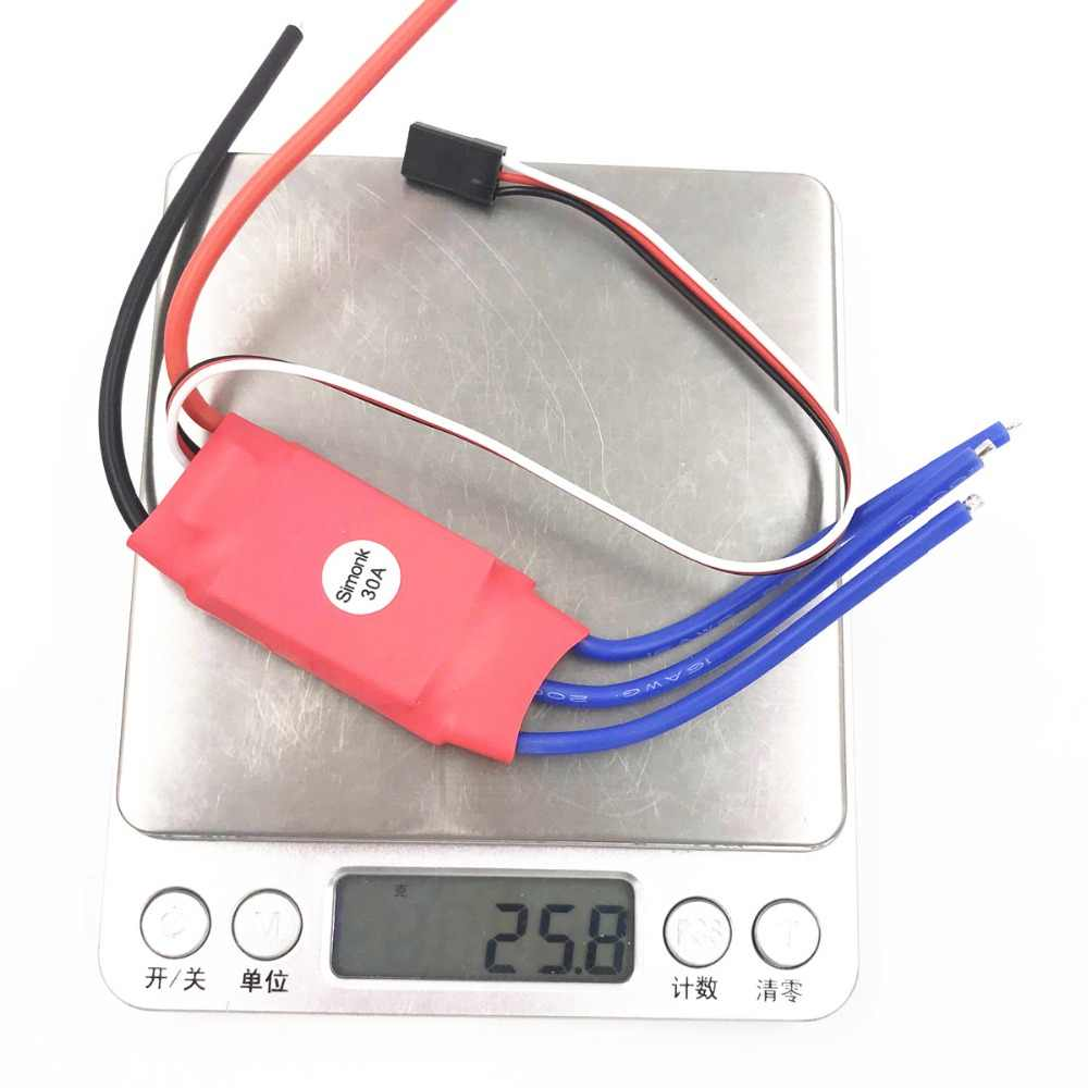 30 AMP ala fija 30A sin escobillas ESC firmware w/5 V 3A UBEC Quad Multirotor APM2 para FPV F450 Mini micro Quad quadco