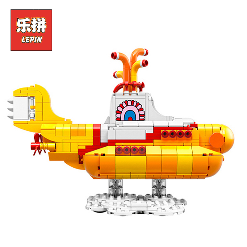 Lepin 21012 Technic Series the Beatles Yellow Submarine Set Model Building Blocks Bricks Children Toy Christmas Gift 21306 yukon sibir т 20 50x50 21012