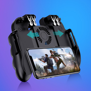Image 3 - PUBG mobile controller joystick with cooling fan for iphone iOS Android Smartphone gamepad pubg trigger controller fan cooler