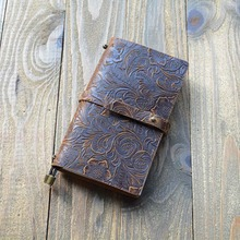 Portable Size Genuine Leather Refillable Journal Notebook Planner Diary Business Notepad Handmade Travelers
