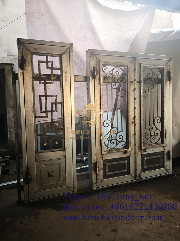 Whole Sale Best Iron Doors Iron Double Doors Iron Doors Best Price For Sale  Hc52