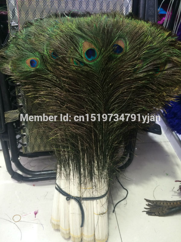 EMS Free shipping wholesale 1200 pc high quality natural peacock feather 90 100cm 36 40inch wedding