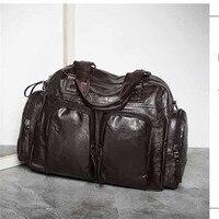 New Men Leather Handbag Large Capacity Male Shoulder Bag Luxury Men's Travel Bag British Retro Style Big Size Messenger Bags