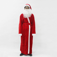 россия, рождественский костюм санта-клауса, маскарадный костюм санта-клауса, маскарадный костюм на рождество для мужчин, 5 шт./лот/партия, костюм для взрослых