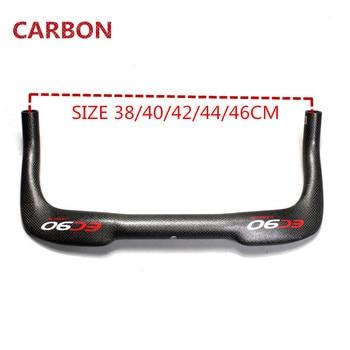 Manillar de carbono para bicicleta, piñón fijo, 31,8x38 0/400/420/440/460mm, ultraligero