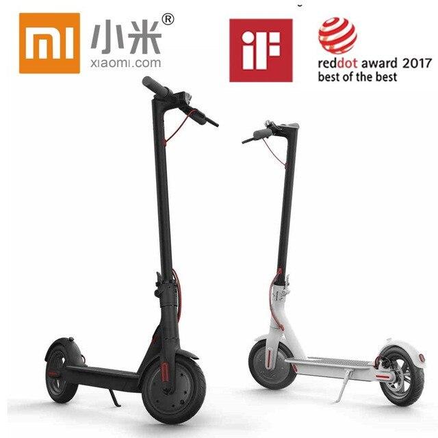 Xiaomi скутер Mijia M365 Smart Электрический Складной Скутер 2 колеса Ховерборд oxboard 30 км пробег LG Батарея самокаты