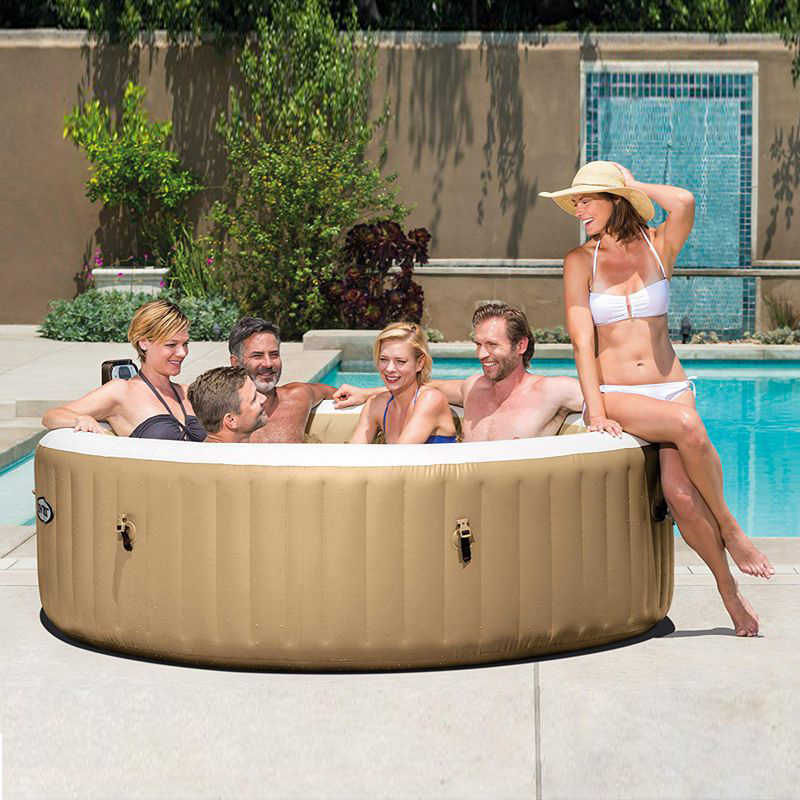Intex Pure Spa Pool 4 Person Air Jet Inflatable Portable Hot Tub